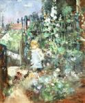 berthe morisot child among staked roses painting 78020