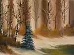 a copper winter by bob ross painting