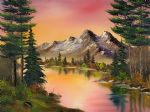 autumn fantasy by bob ross oil paintings