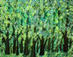 blue green forest by bob ross oil paintings