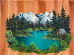bob ross fishermans cabin painting