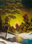 bob ross golden sunset painting 86033