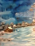 bob ross misty winter nick painting-86078
