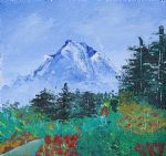 bob ross my mountain wonder painting