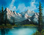 natures grandeur by bob ross painting