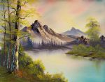 bob ross pastel skies 86111 painting