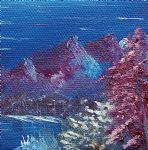 bob ross purple mountain landscape painting