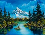 reflections of fall by bob ross painting