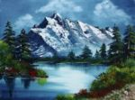 take a breath barbara teller by bob ross painting
