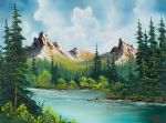 twin peaks river by bob ross painting