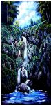 waterfall by bob ross oil paintings
