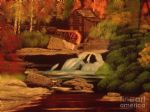 bob ross west virginia grist mill painting