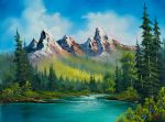 bob ross wild country painting