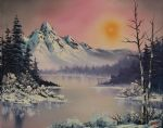 bob ross winter frost 86160 print