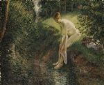 camille pissarro bather in the woods prints