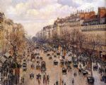 boulevard montmarte by camille pissarro painting