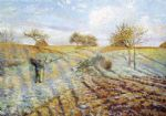 camille pissarro gelee blanche painting