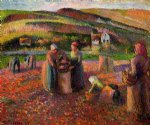 potato harvest by camille pissarro painting