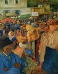 poultry market pontoise ii by camille pissarro painting