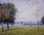 primrose hill regent s park by camille pissarro painting