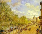 camille pissarro quai malaquais in the afternoon sunshine paintings