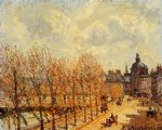 quai malaquais morning sunny weather by camille pissarro painting