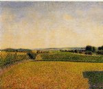 railroad to dieppe by camille pissarro painting