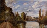 camille pissarro riverbanks in pontoise paintings