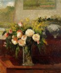 camille pissarro roses of nice painting 36300