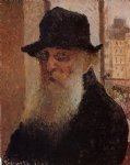 portrait paintings - self portrait by camille pissarro