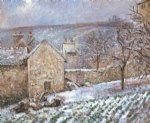 camille pissarro snow at the hermitage pontoise painting