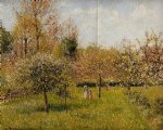 camille pissarro spring at eragny painting