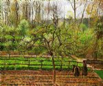 camille pissarro spring gray weather eragny painting