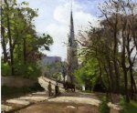 st. stephen s church lower norwood by camille pissarro painting