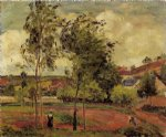 strong winds pontoise by camille pissarro painting
