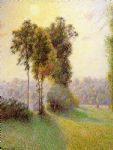 camille pissarro sunset at st. charles eragny painting
