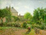 camille pissarro the artist s garden at eragny painting