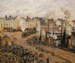 the fishmarket dieppe by camille pissarro painting