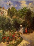 the garden at pontoise by camille pissarro painting