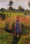 camille pissarro the gardener afternoon sun eragny paintings