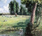 camille pissarro the goose girl posters
