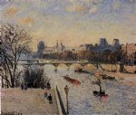 the louvre ii by camille pissarro painting