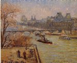 the louvre iii by camille pissarro painting