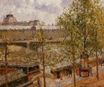 the louvre morning sun quai malaquais by camille pissarro painting