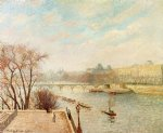 the louvre winter sunlight morning 2nd version by camille pissarro painting