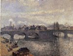 the pont corneille rouen morning effect by camille pissarro painting