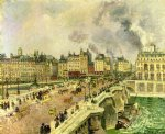the pont neuf shipwreck of the bonne mere by camille pissarro painting