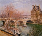 the pont royal and the pavillion de flore by camille pissarro painting