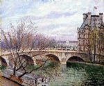 the pont royal and the pavillon de flore by camille pissarro painting