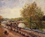 the pont royal by camille pissarro painting